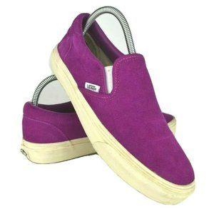 Vans J.Crew Classic Vintage Suede Fuschia Sneakers